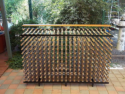 Bordex 1.95 Metre Double Sided Commercial Wine Rack With Shelf - Ex Shop Display