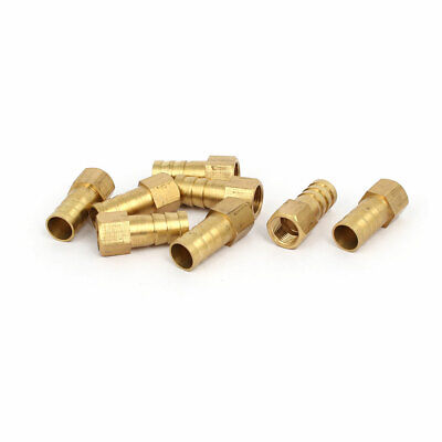 1/8BSP Female Thread 10mm Hose Barb Brass Tubing Fitting Coupler Connector 8pcs