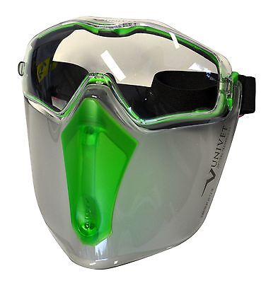 Maxisafe 6x3 Safety Goggle And Visor Combo Face and Eye Protection - Safety