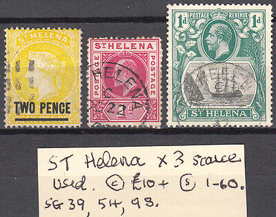 Lot 7. St. Helena X3 Scarce Stamps..