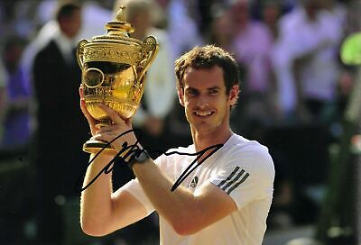 Andy Murray Signed 12X8 Photo Genuine US OPEN TENNIS WIMBLEDON