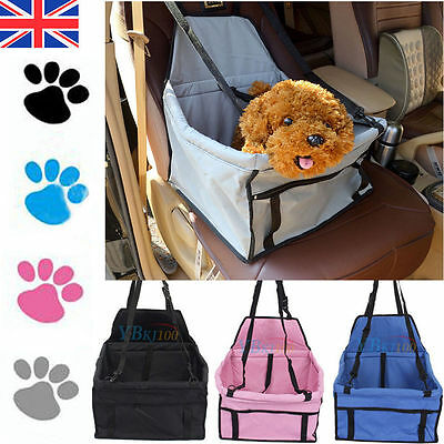 Small Pet Car Booster Seat & Carrier For Dog Puppy Cat Travel Bag Waterproof WY