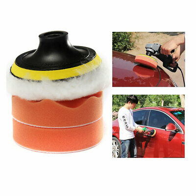Car Polisher Pad Buffer Gross Polish Polishing Kit Set Drill Adapter UK