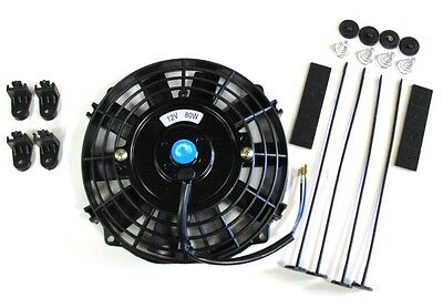 """7"""" / 19cm Universal Radiator Electric Cooling Fan with Fitting Kit (Slimline)"""