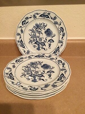 """Blue Danube Dinner Plate 10 1/4"""" Round Set Of 5 Made In Japan"""