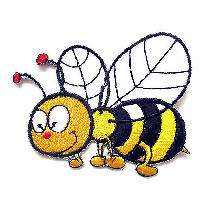 Bee Embroidered Sew Iron On Patches Set Badge Bag Fabric Applique Craft DIY