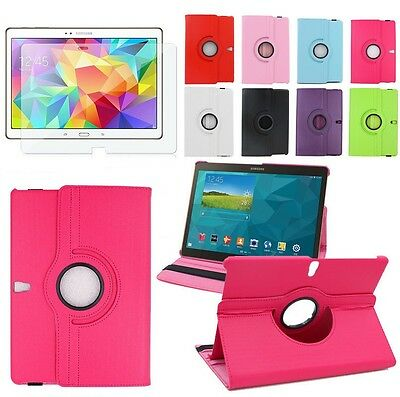 360 Rotating & Folding PU Leather Stand Case Cover For Samsung Galaxy Tab A E S2