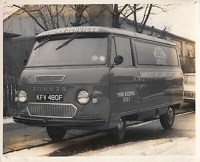 COMMER VAN, FOR NELCLEAN SERVICES, REG No.KFV 481F, FRONT SIDE VIEW PHOTO.