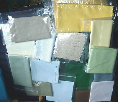 Pieces of Aida OR Evenweave Cross Stitch Fabric Choose Colour, Count, Size NEW!