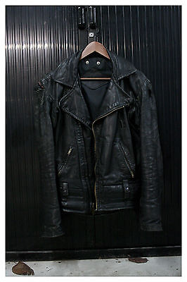 Leather Police Motorcycle Jacket Perfecto Caferacer California Highway Patrol