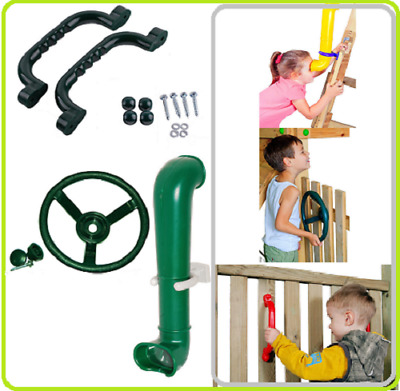 Steering Wheel+Periscope+Pair of Handgrips PERFECT SET FOR CLIMBING FRAME
