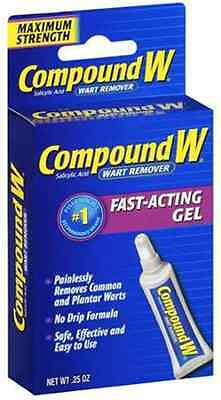 Compound W Wart Remover, Maximum Strength, Fast-Acting Gel, 0.25-Oz USA IMPORT