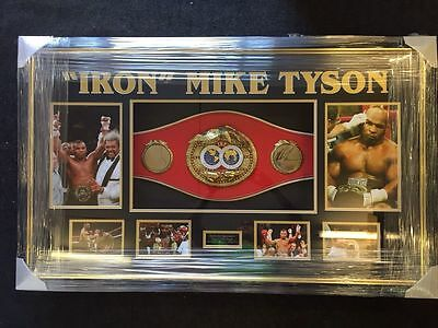 Mike Tyson Signed Boxing Belt Signed In Las Vegas FRAMED