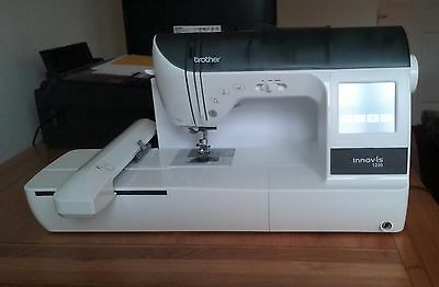 """Brother Embroidery Sewing machine INNOV IS 1250 13.5"""" 8.5"""" + 4"""" hoops 2 Pes CD.s"""