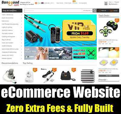 Website - eCommerce Store - Home Online Internet Based Business - Fully Built