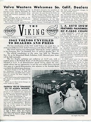 "1961 VOLVO ""The Viking"" Newsletter # 3: ""Little Le Mans"" Art Riley, Volvo 544-08"