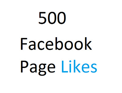 500 Facebook Service For FANPAGE | Professional Fast Service | HQ *UK SELLER*