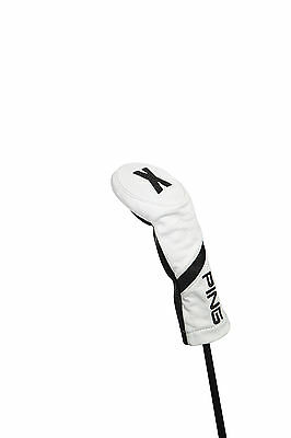 New 2017 Ping Leather Hybrid #X Rescue Wood Headcover COLOR: White with Black