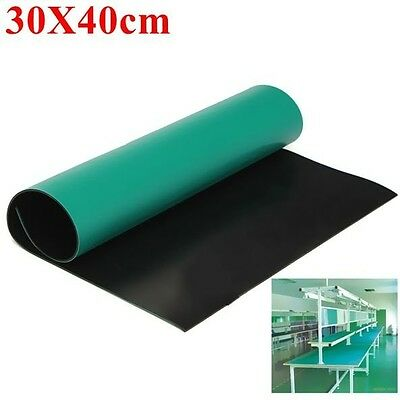 Repair Anti Static Grounding Mat Rubber Green PC Desktop ESD Electronics 30x40cm