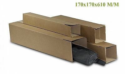 20 Tubes Carton Carre Expedition 170X170X610 M/m