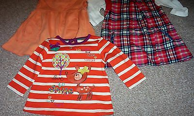 mixed bundle girls clothes vgc 0 - 3 month m&s & bhs pinafores & tops