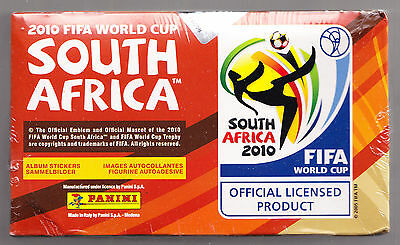 """Panini World Cup 2010 Sealed Box of 100  Sticker Packets. """" Brand New"""""""