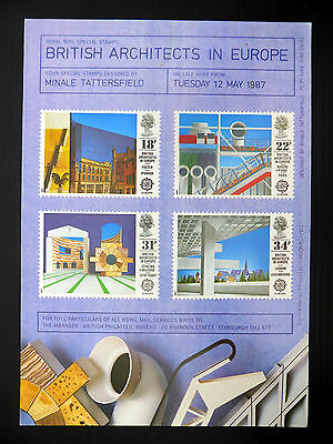 GB 1987 Architecture Royal Mail Poster Tiny/Fault YZ312
