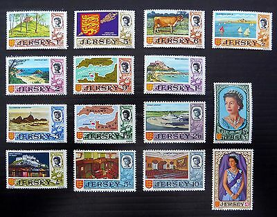 GB JERSEY 1969 Definitives Complete to £1 Mounted Mint XZ361