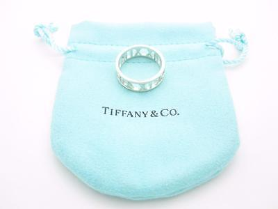 New Tiffany & Co. Sterling Silver Atlas Open Band Ring Unisex Size 8