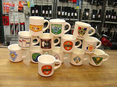 VINTAGE RARE BSA Boy Scouts Lot of 12 Coffee Mugs