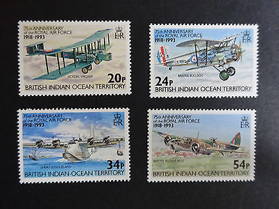 British Indian Ocean Territory 1993 75th Anniversary of RAF SG136/9 MNH