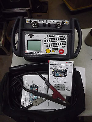 MEGGER DLRO 200 Digital Low Resistance OhmMeter with Cable 200A Leads