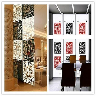 1pcs Hanging Screen Partition Room Divider Butterfly Slower Wall Home Sticker YN
