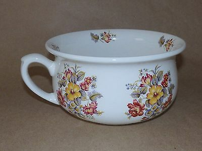 Antique Arthur Wood England Small Child's Chamber Pot Transferware Pattern