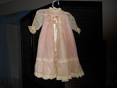 Vintage Effanbee Doll Formal Dress Pinkover slip Limited  edition New?