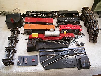 American Flyer Train Set W/ 312 Die Cast Eng & Tender & Cars & Track Very Rare