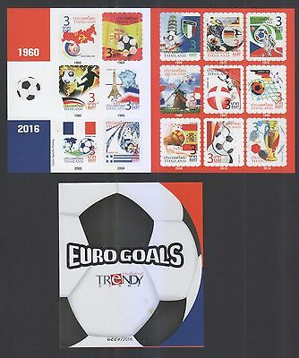 Thailand 2016 Euro Goals (Football) Trendy Stamps Booklet Of 15 Stamps In Mint