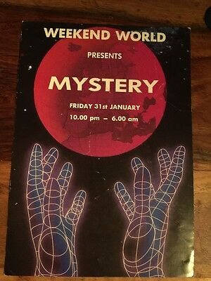 Rave Flyers Weekend World 1992