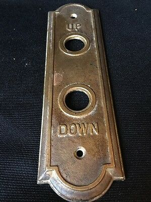Antique Brass, Bronze Elevator Up Down Call Button Plate
