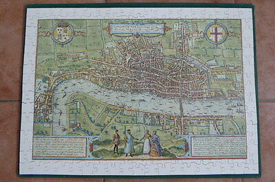 Optimago Wooden Jigsaw A Map View Of The City Of London 1574   Approx 300 Pieces