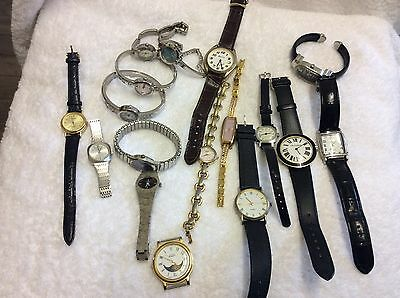 Job Lot Of 17 Wrist  Watches - Not Working
