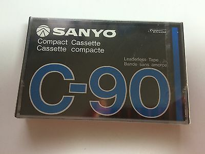 Sanyo Compact Cassette Tape C-90 New Factory Sealed Mint vintage Japan