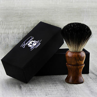 Men's Shaving Brush with Black Badger Hair in Pure Rose Wood Handle For Him.
