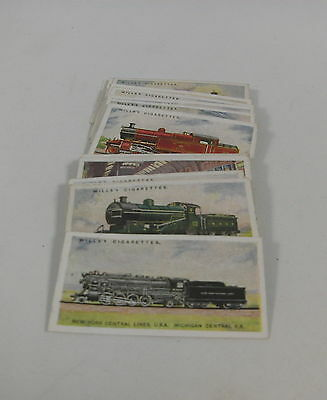 1924 Incomplete Original Set of Will's Cigarette Cards: Railway Engines
