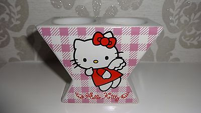 Lovely Hello Kitty Double Egg Cup In Pink & Red Checked Gingham By Sanrio - New