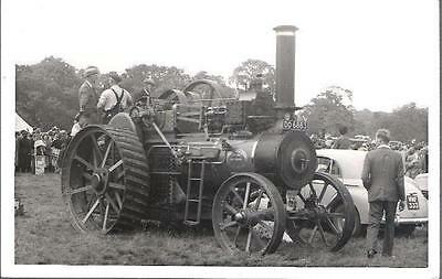 Steam Traction - Ransomes Sims Jeffries Engine DO 6883 Woburn Park 1958 - PHOTO
