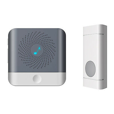 Portable Wireless Doorbell Chime Kit 500ft Range 52 Melodies Battery Opetared