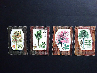 British Honduras 1969 Hardwood Trees SG 272/5 MLH
