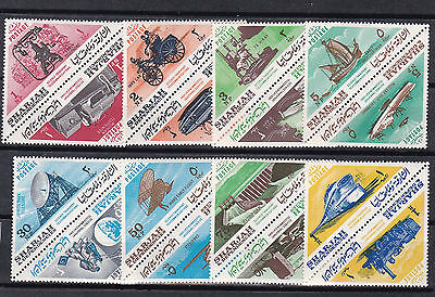 sharjah 1966 two sets ,(one normal,one imperf,)surch.MNH    g2232