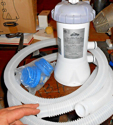 Never Installed INTEX Krystal Clear 603 swimming pool filter and pump w insert